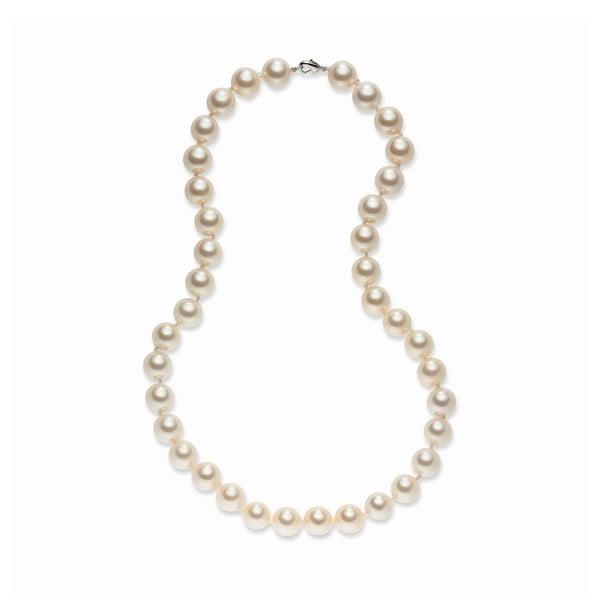 Jasnopomarańczowy naszyjnik perłowy Pearls Of London Sea, 52cm