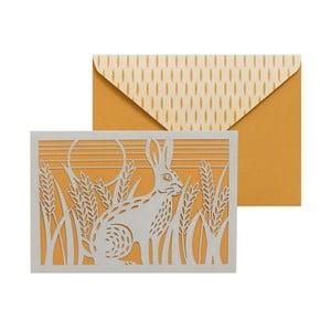 Zestaw   10 kart okolicznościowych Portico Designs FOIL Folklore Hare
