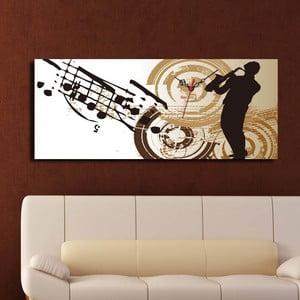 Obraz z zegarem Jazz