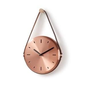 Zegar ścienny w kolorze miedzi La Forma Wolly