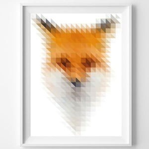 Plakat Blurry Fox, A3