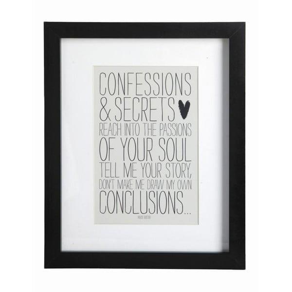 Obraz z ramką Confessions, 23x28 cm
