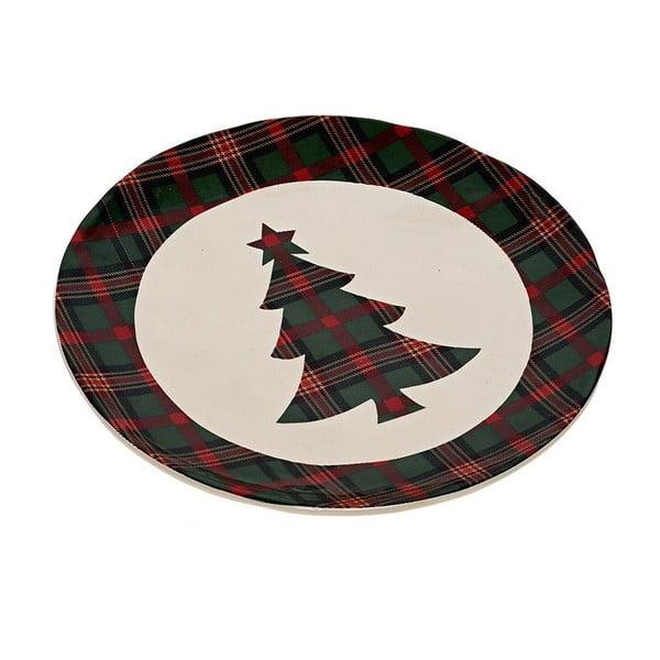 Ceramiczny talerz Christmas Tree, 20 cm