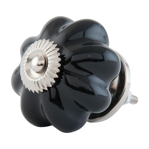 Dekoracyjny uchwyt do drzwiczek Black Flower