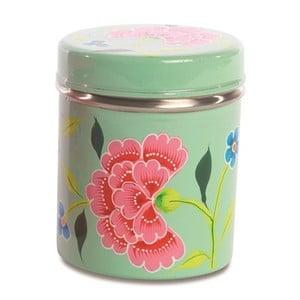 Pojemnik Franjipani Floral Tin, zielony