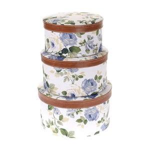Zestaw 3 pudełek Blue Flower