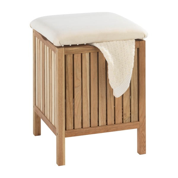 Taboret łazienkowy z drewna orzechowego z miejscem do przechowywania Wenko Norway