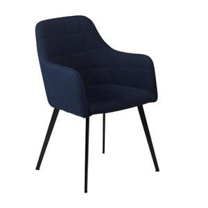 Granatowe krzesło z podłokietnikami DAN–FORM Embrace