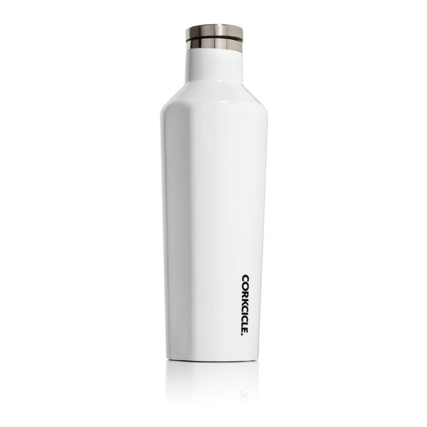 Biała butelka termiczna Corkcicle Canteen, 470 ml