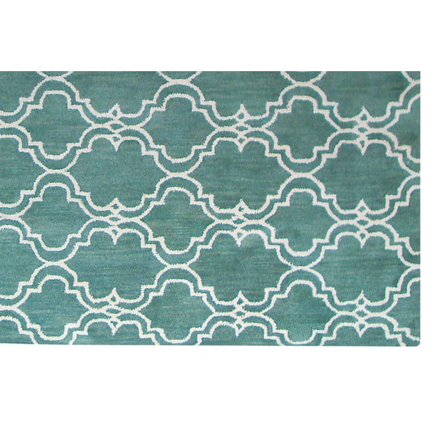 Zielony dywan wełniany Bakero Riviera, 153x244cm