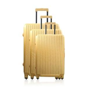 Zestaw 3 walizek podróżnych Golden Stripes