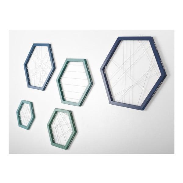 Rachetta Blue and Green, zestaw 5 ram do przechowywania