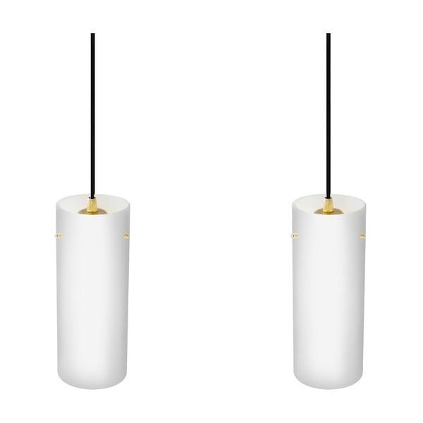Podwójna lampa Paipu Elementary, mleczna matowa/miedziana/czarna /czarna