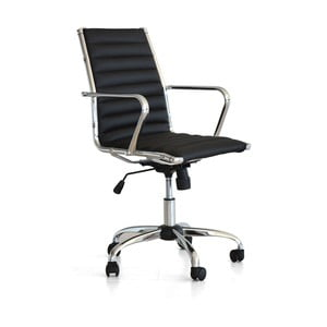 Krzesło biurowe na kółkach Pandora, czarne