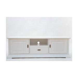 Biała szafka pod TV z 2 drzwiczkami Wermo Family Leelo