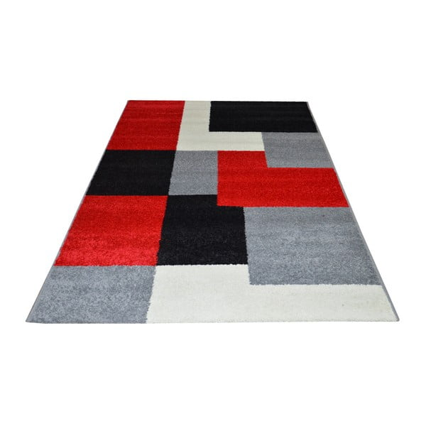Dywan Flair Rugs Carré Red, 133x190 cm