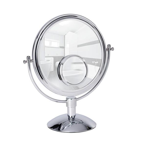 Chromowane lusterko kosmetyczne stojące Wenko Grando, wysokość 37 cm