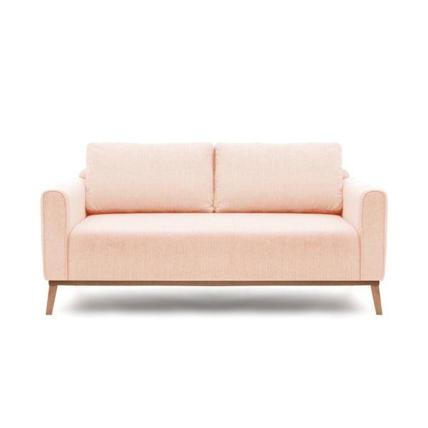 Jasnoróżowa sofa trzyosobowa VIVONITA Milton