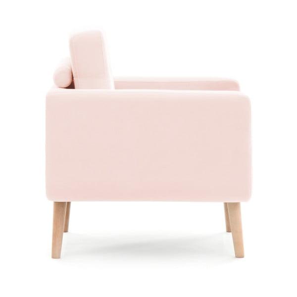 Pastelowo różowa sofa trzyosobowa VIVONITA Ina