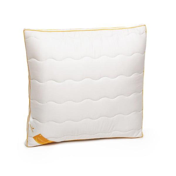 Biała poduszka z wełną merynosową Lana Green Future, 60x60cm