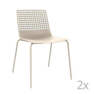 Zestaw 2 białych krzeseł ogrodowych Resol Wire