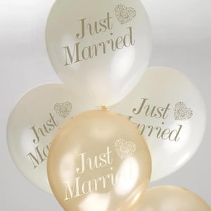 Zestaw 8 biało-złotych balonów Neviti Vintage Romance