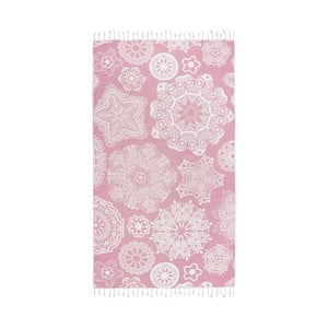 Różowy ręcznik hammam Kate Louise Isabella, 165x100 cm