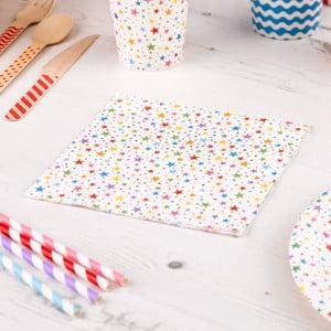 Zestaw 20 papierowych serwetek Neviti Carnival Stars