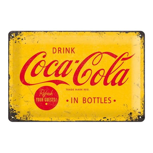 Blaszana tabliczka Drink Coca Cola in Bottles, 20x30cm