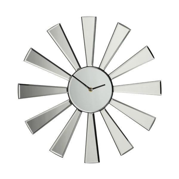 Lustrzany zegar Spoke, 50 cm