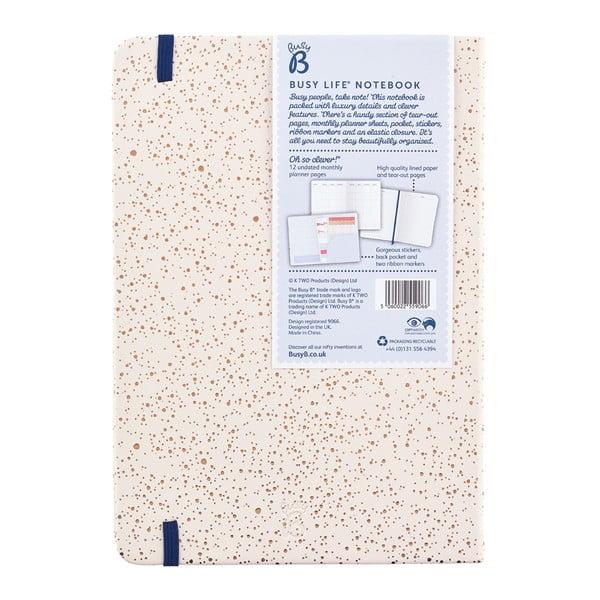 Beżowy notatnik w formacie A5 Busy B, 96 stron