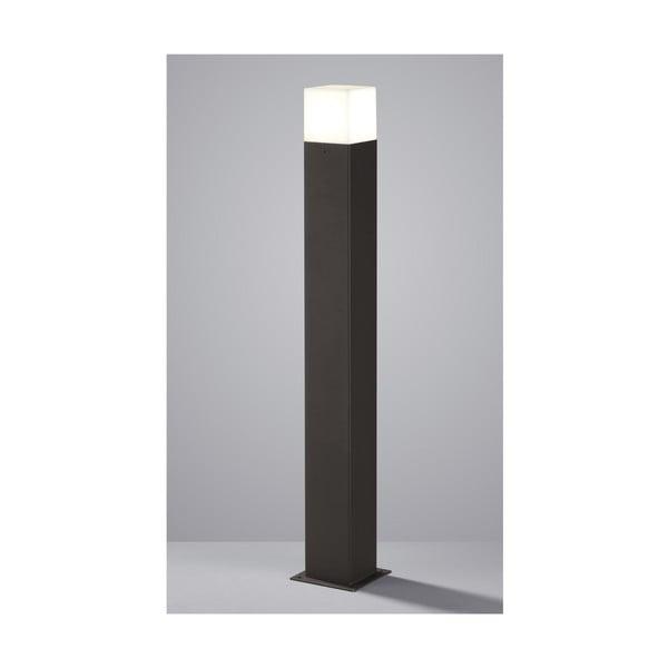 Szara zewnętrzna lampa stojąca Trio Hudson, wys.80 cm