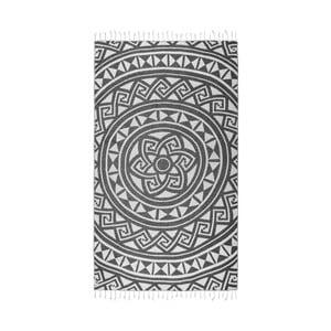 Czarny ręcznik hammam Kate Louise Mirabelle, 165x100cm