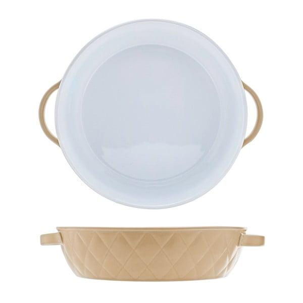 Beżowe naczynie do zapiekania Diamond 27, 27 cm