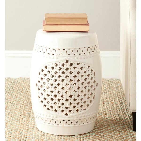 Kremowy stolik ceramiczny Safavieh Marbella