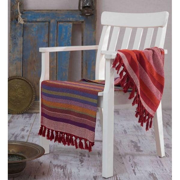 Ręcznik hammam Renkli Claret Red, 100x180 cm