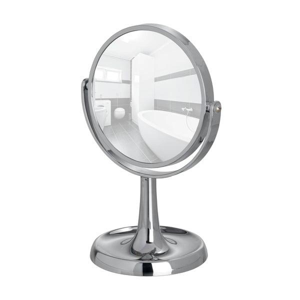 Chromowane lusterko kosmetyczne stojące Wenko Rosolina, wysokość 28 cm