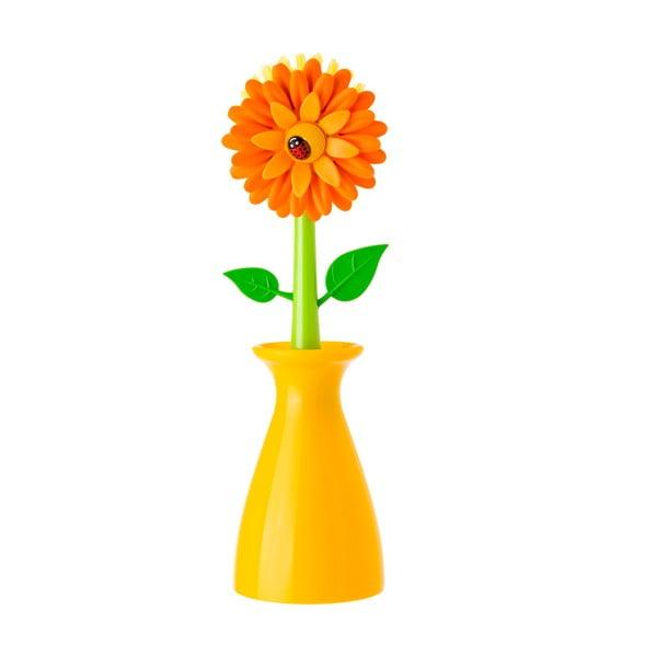 Szczotka do mycia naczyń Vigar Yellow Flower