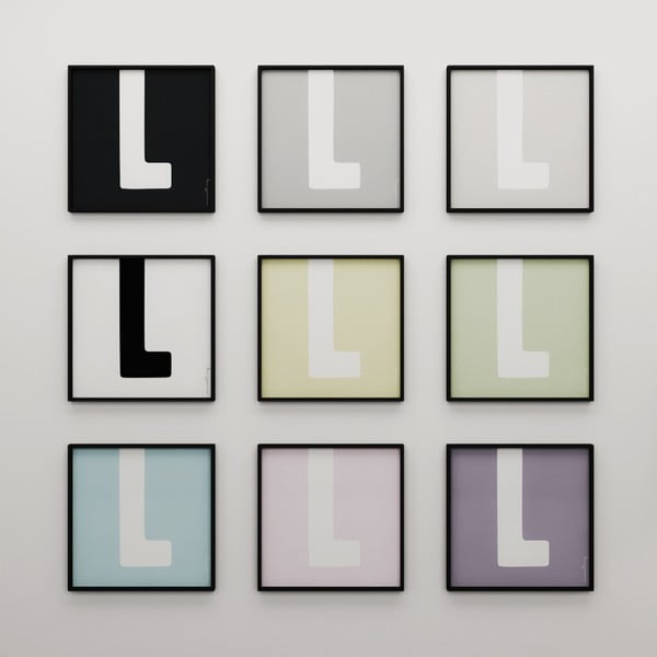 Plakat Litera L, 50x50 cm