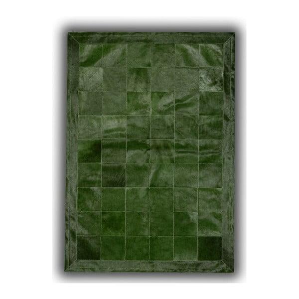 Dywan skórzany Green Olive, 140x200 cm