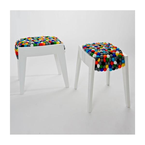 Ręcznie wykonany kulkowy stołek Felt