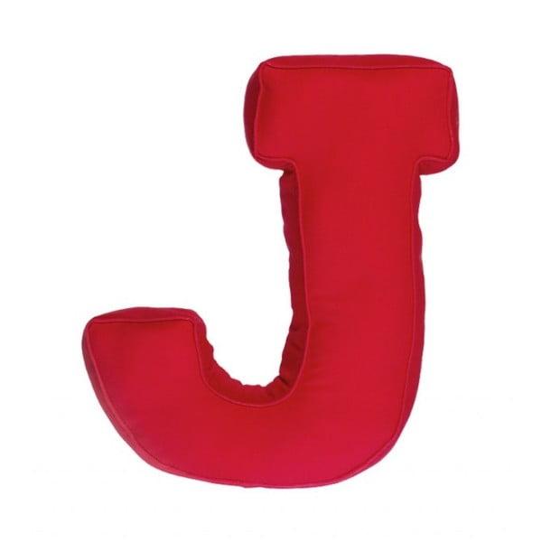 Poduszka w kształcie litery J, czerwona