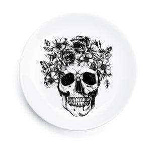 Porcelanowy talerz Skull, 25 cm