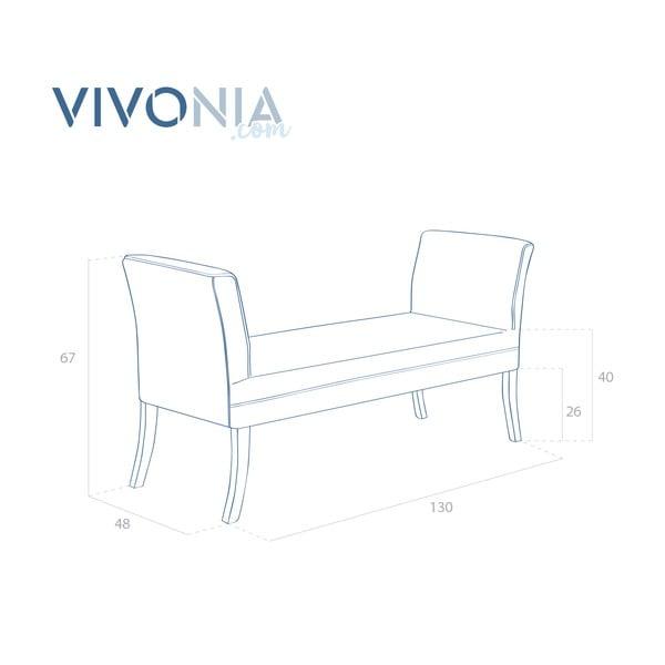 Szaarobeżowa ławka Vivonita Selma