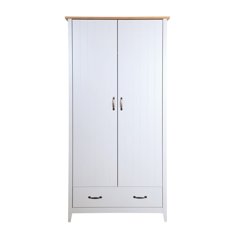 Biała szafa Steens Norfolk, 192x99 cm