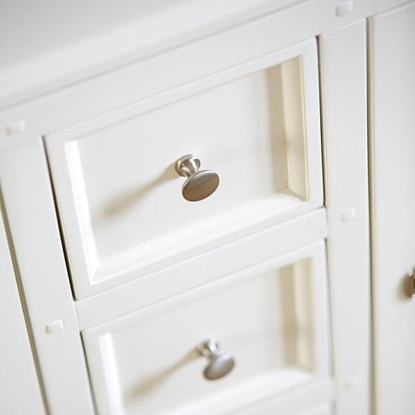 Czterodrzwiowa biała komoda Canett Skagen Highboard, 5 szuflad