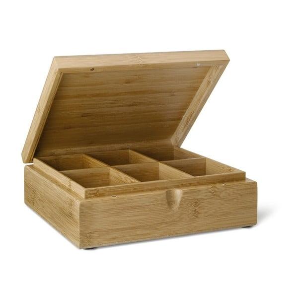 Bambusowe pudełko na herbatę z 6 przegródkami Bredemeijer Bamboo