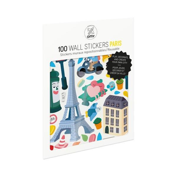 Zestaw naklejek OMY Paris, 100 szt.