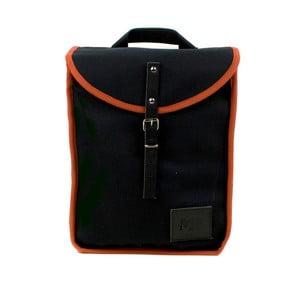 Czarny plecak z pomarańczowym detalem Mödernaked Orange Heap