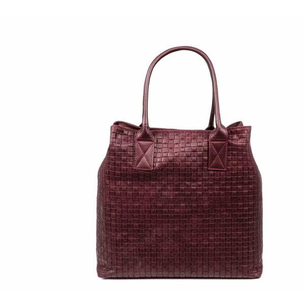Skórzana torebka Dom, czerwona